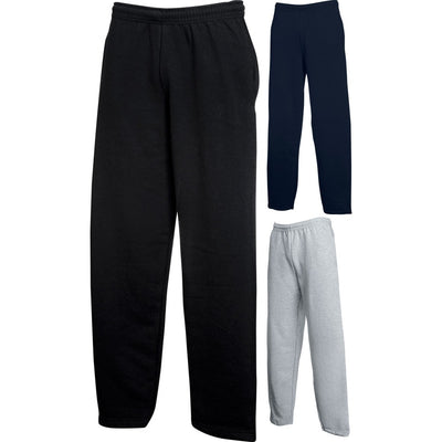 Mens Fruit of the Loom Cotton Classic Open Leg Sweat Pants Jog Jogging Bottoms