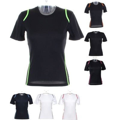 Ladies Women Gamegear® Cooltex® Sport Tennis Short Sleeve Round Neck T Shirt Top