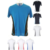 Mens Gamegear® Cooltex® Sport Team Short Sleeve V Neck T Shirt Top