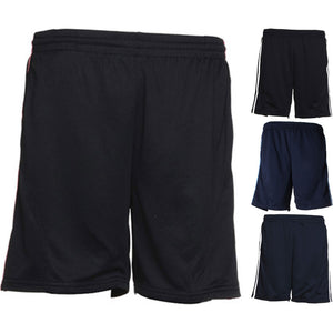 Mens Gamegear® Cooltex® Sport Gym Polyester Shorts with Side Stripes Mesh Inner