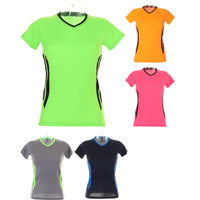 Ladies Women Gamegear® Cooltex® Training Run V Neck Short Sleeve T Shirt Top