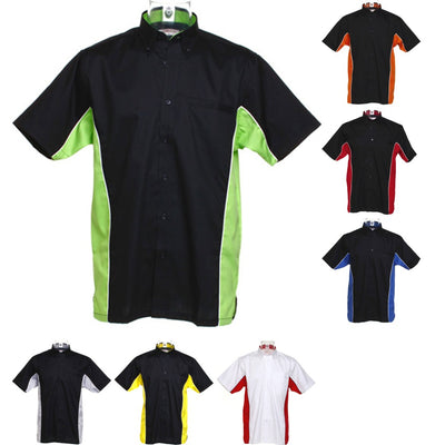 Mens Gamegear® Sportsman Cotton Rich Button Short Sleeve Shirt Top