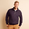 Mens Gildan Heavy Blend Vintage 1/4 Zip Plain Long Sleeve Sweatshirt Top