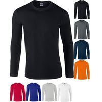 Mens Gildan Softstyle™ Cotton Jersey Knit Long Sleeve T Shirt Top
