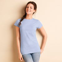 Ladies Women Gildan Softstyle Ringspun Cotton Plain Short Sleeve T Shirt Top