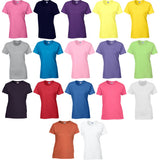 Ladies Women Gildan Heavy Cotton Short Sleeve Plain Colour T Shirt Top