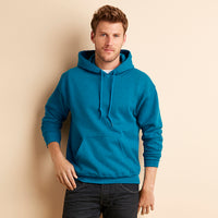 Mens Adult Gildan Heavy Blend Hoodie Hooded Plain Colour Sweatshirt Top