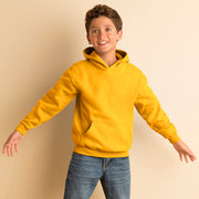 Kids Children Gildan Heavy Blend Hoodie Hooded Plain Colour Sweatshirt Top