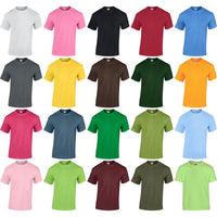 Children Kid Boy Girl Gildan Heavy Cotton Youth Short Sleeve Colour T Shirt Top