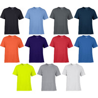 Mens Gildan Performance Short Sleeve 100% Polyester Plain Colour T Shirt Top