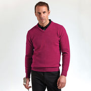 Mens Glenmuir 100% Lambs Wool V Neck Sweater Top