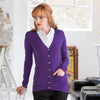 Ladies Women Henbury V Neck Button Cardigan Warm Top