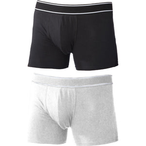 Mens Kariban Rib Elastic Waist Band Cotton Rich Boxer Shorts Underwear