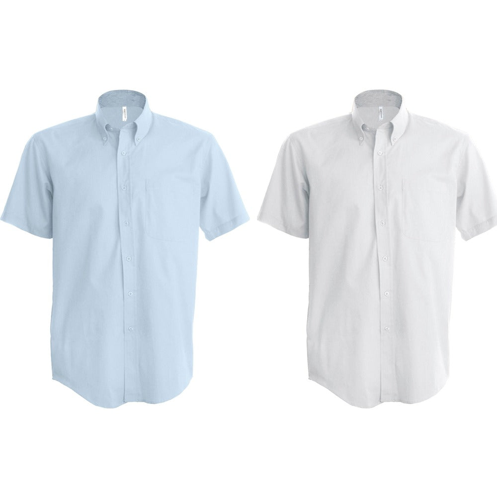 Mens Kariban Short Sleeve Easycare Cotton Rich Oxford Shirt