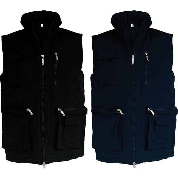 Mens Kariban Discovery Sleeveless Two Gilet Outdoor Fleece Lined Jacket Top