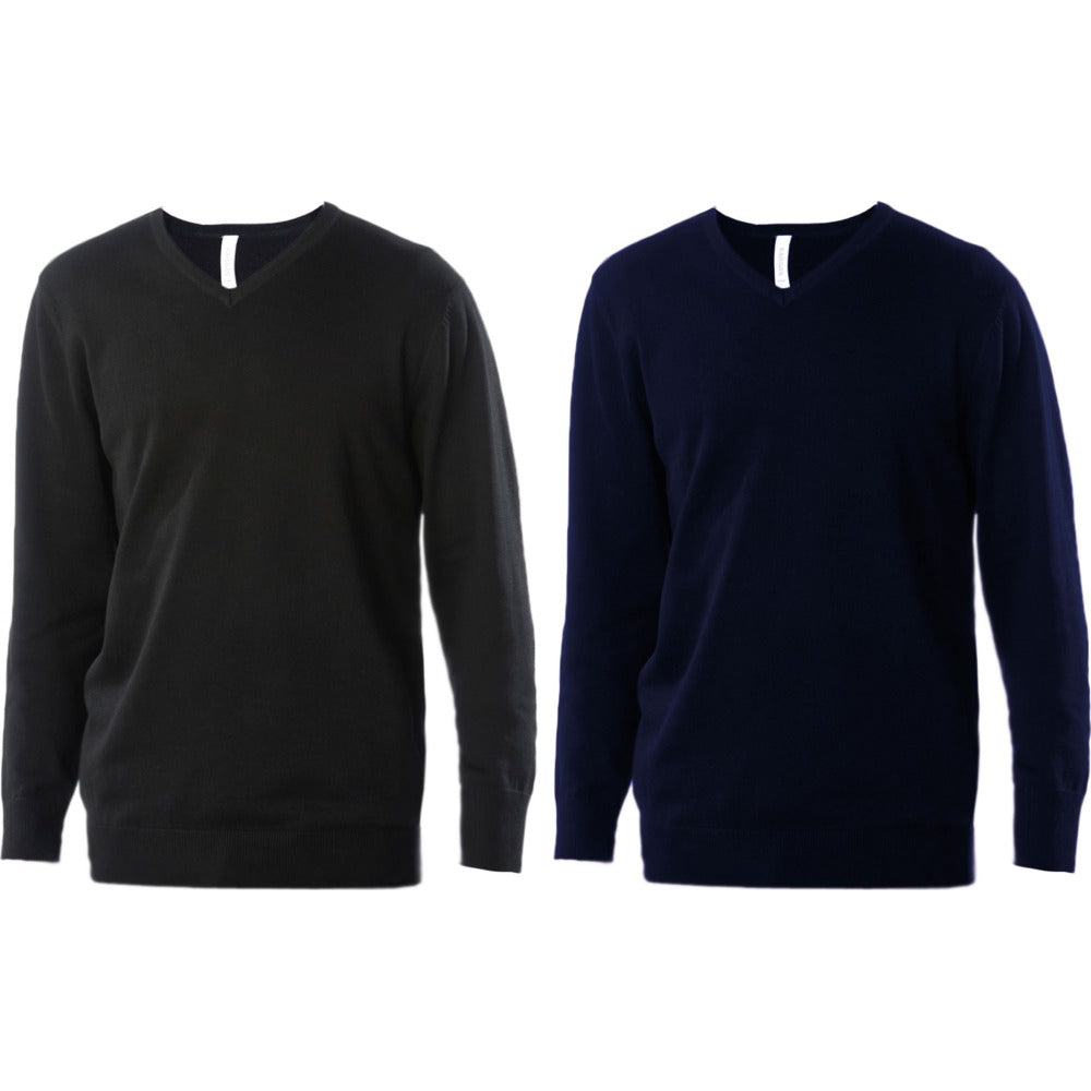 Mens Kariban Fitted V Neck Warm Jumper Top