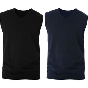 Mens Kariban Fitted Sleeveless Smart Jumper Top