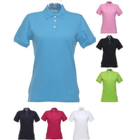 Ladies Women Kustom Kit Kate Colour Comfortec® Cotton Polo Neck Collar Shirt Top
