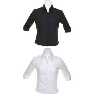 Ladies Women Kustom Kit Continental Fitted Blouse 3/4 Sleeve Shirt Top