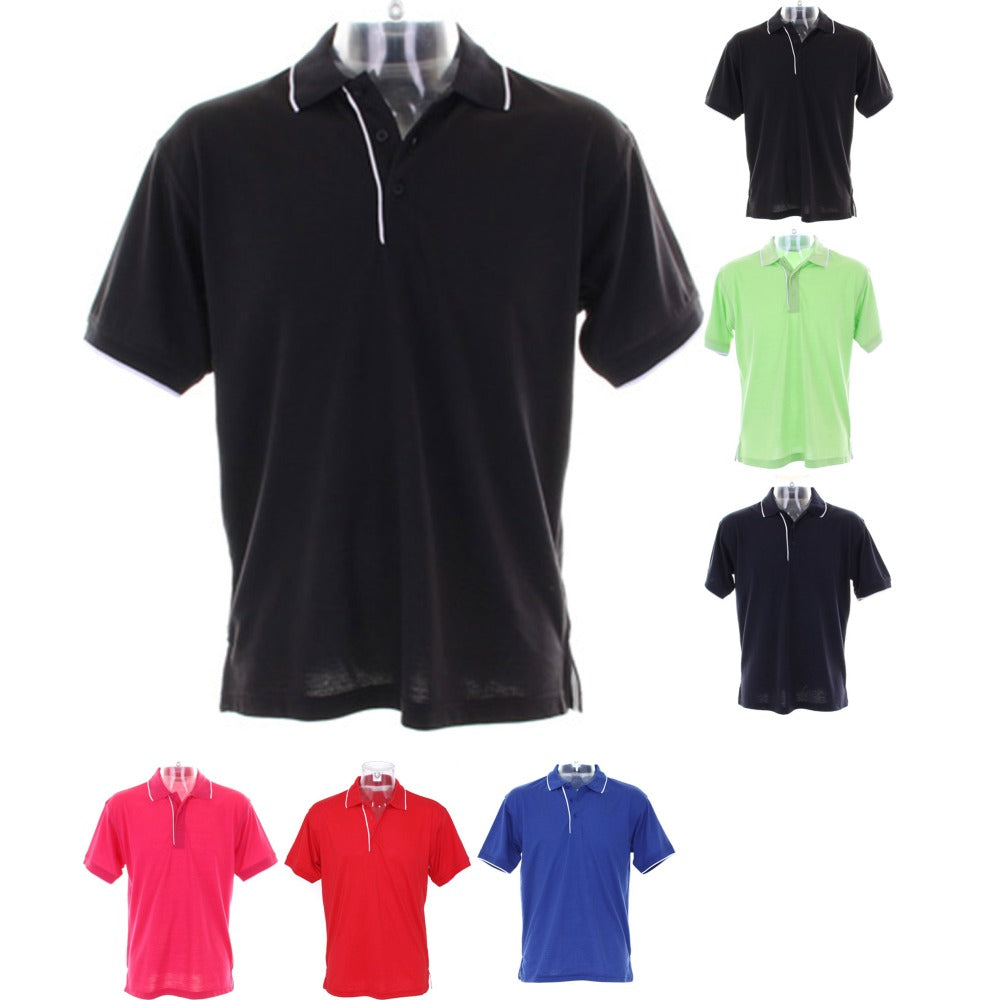 Mens Kustom Kit Essential Pique Polo Neck Collar Shirt Top