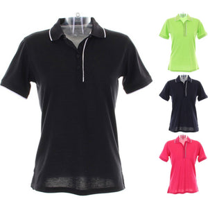 Ladies Women Kustom Kit Essential Polo Neck Collar Shirt Top