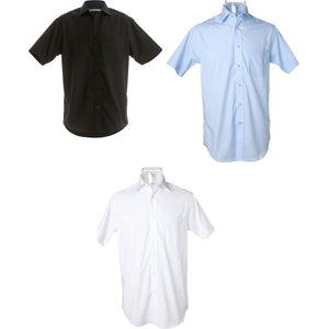 Mens Kustom Kit Premium Non Iron Corporate 100% Cotton Short Sleeve Shirt