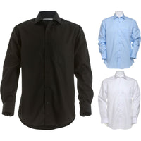Mens Kustom Kit Premium Non Iron Corporate 100% Cotton Long Sleeve Shirt