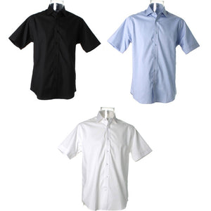 Mens Kustom Kit Superior Oxford Cotton Rich Wrinkle Free Short Sleeve Shirt