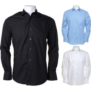 Mens Kustom Kit Tailored Fit Business Long Sleeve Shirt