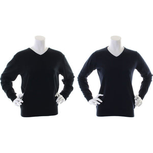 Ladies Women Kustom Kit Arundel V Neck Long Sleeve Warm Sweater Top Pullover