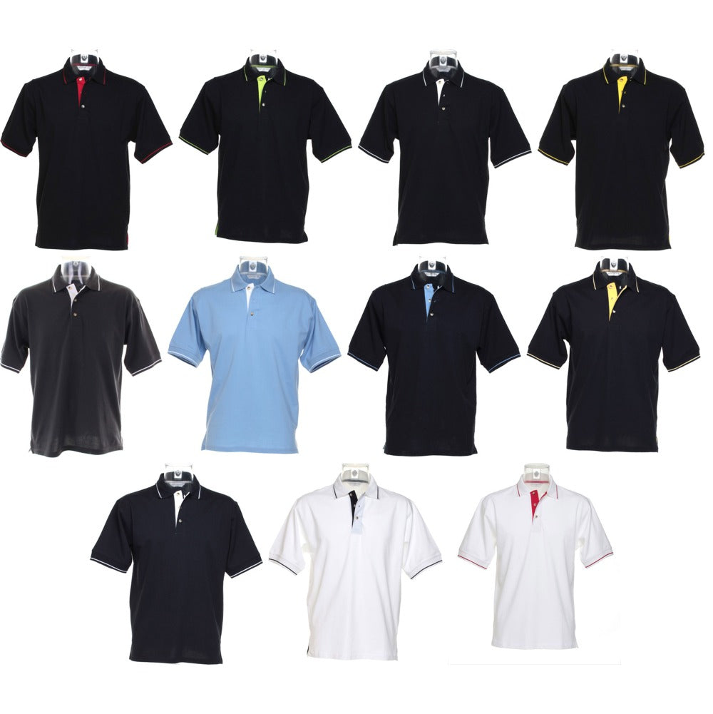 Mens Kustom Kit St Mellion Polo Neck Collar 100% Cotton Shirt Top