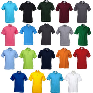 Mens Kustom Kit Workwear Pique Polo Neck Collar with Superwash® Colour Shirt Top