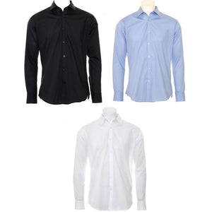 Mens Kustom Kit Slim Fit Business Long Sleeve Shirt