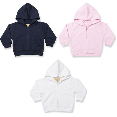 Baby Toddle Child Larkwood Zip Through Cotton Rich Fleece Hoodie Hooded Top