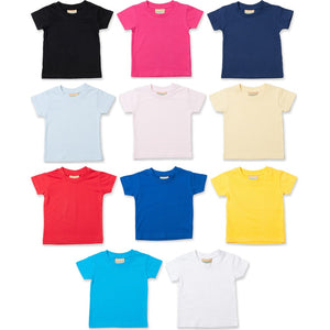 Baby Toddler Child Larkwood 100% Cotton Plain Colour Short Sleeve T Shirt Top
