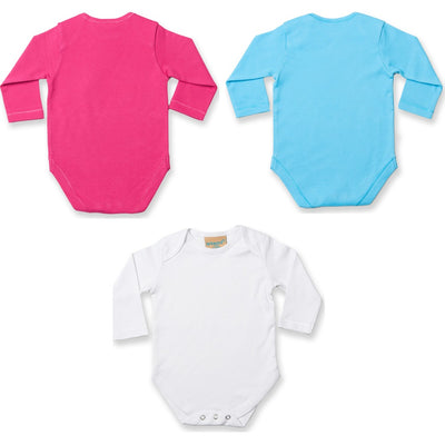 Baby Larkwood Long Sleeve 100% Cotton Full All in One Contrast Body Suit