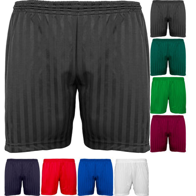 Kids Children Maddins Colour Shadow Stripe Gym PE Sport Football Soccer Shorts