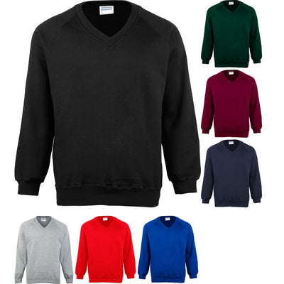 Mens Maddins Coloursure™ V Neck Colour Sweatshirt Sweater Top