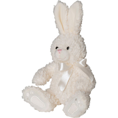 Mumbles Baby Toddler Plush Fur Toy Rabbit Teddy Bear (White)