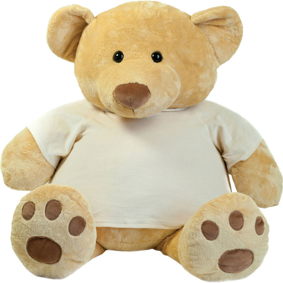Mumbles Plush Fur Super Size Honey Teddy Bear with T Shirt