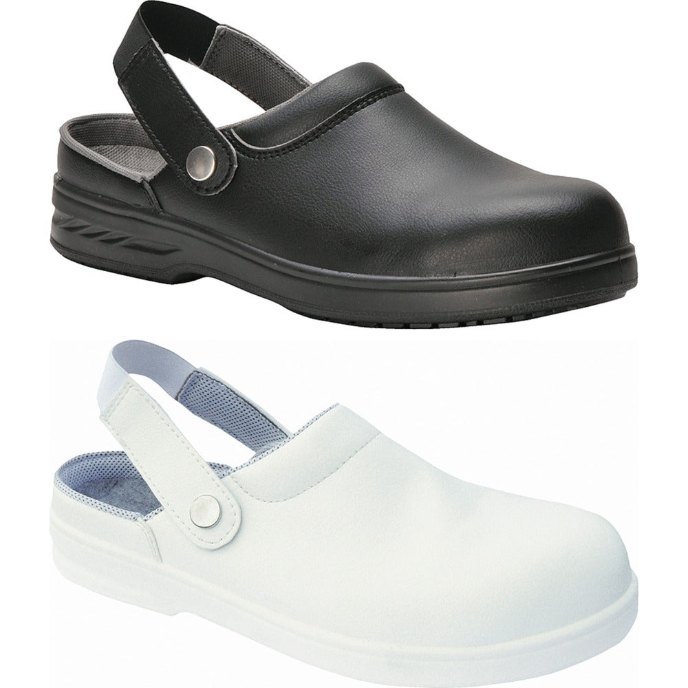 Mens Portwest Steelite™ Safety Clog Microfibre Sole Shoes (FW82)