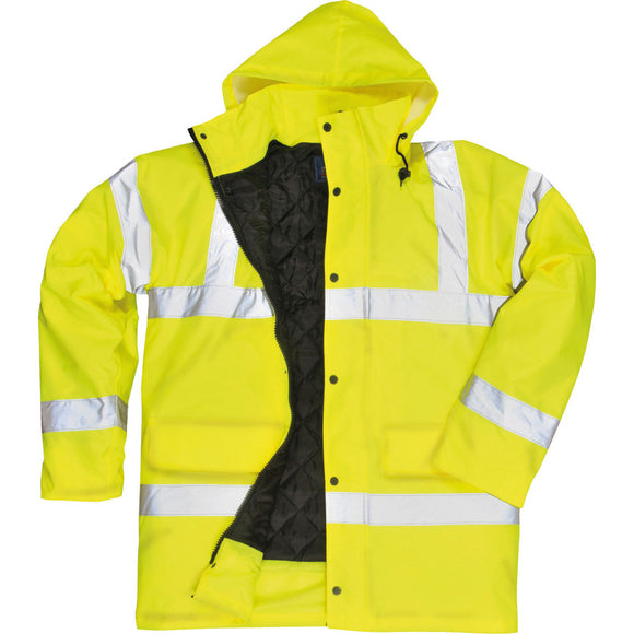 Mens Portwest Hi Vis Visibility Traffic Jacket Coat (S460)