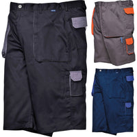 Mens Portwest Contrast Cotton Rich Shorts (TX14)