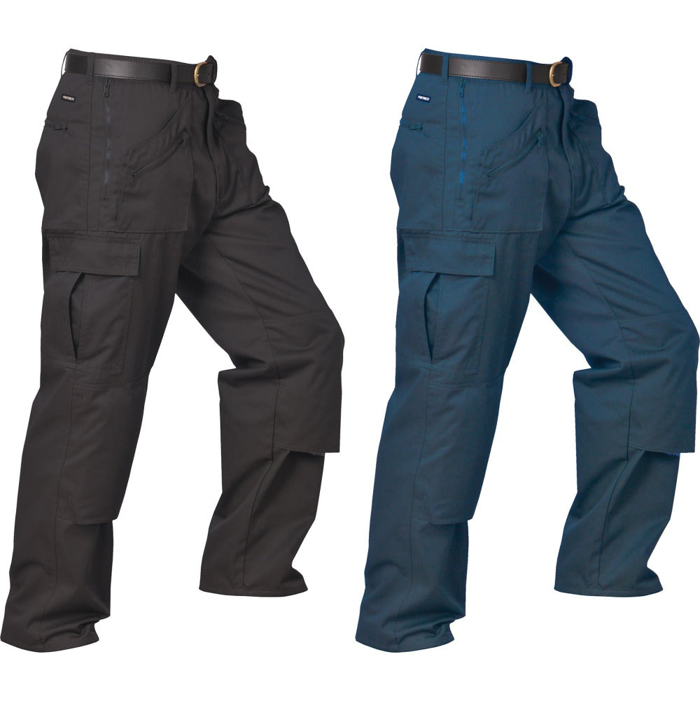 Mens Portwest Multi Zipped side Pocket Action Trousers (S887)