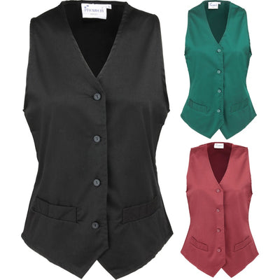 Ladies Women Premier Contemporary Hospitality Waiter Hotel Uniform Waistcoat