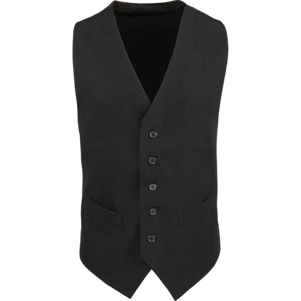 Mens Premier Contemporary Hospitality Uniform Polyester Satin Back Waistcoat