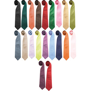 Mens Premier Colour Fashion Formal Clip Tie
