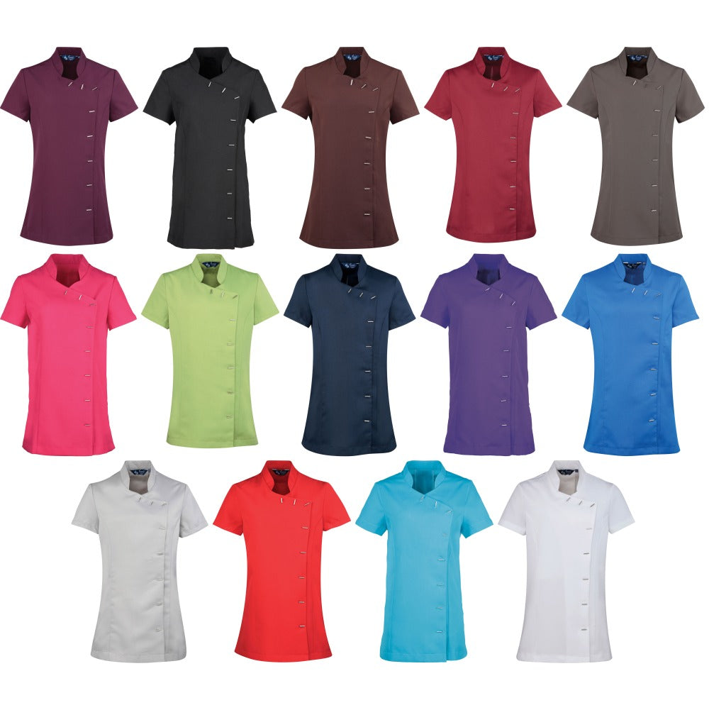 Ladies Women Premier Colour Orchid Beauty and Spa Short Sleeve Tunic Top