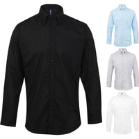 Mens Premier Cotton Rich Signature Oxford Long Sleeve Professional Formal Shirt