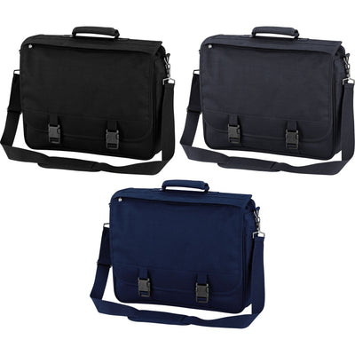 Quadra Portfolio Briefcase Case with Shoulder Strap